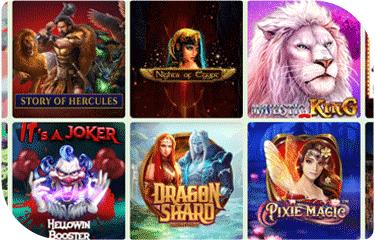 Crazyno casino game selection