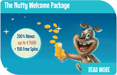 Crazyno casino - the nutty welcome package bonus