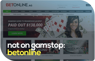 not on gamstop: betonline