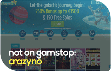 not on gamstop: crazyno