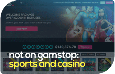 not on gamstop: sports and casino