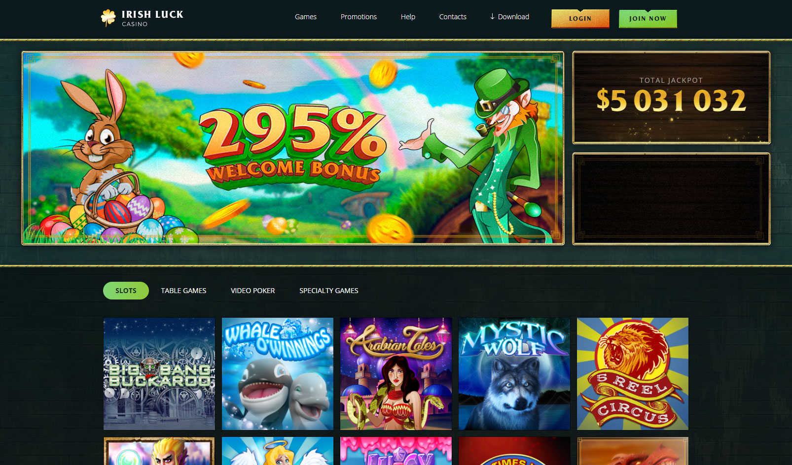screenshot-irish-luck-casino-1