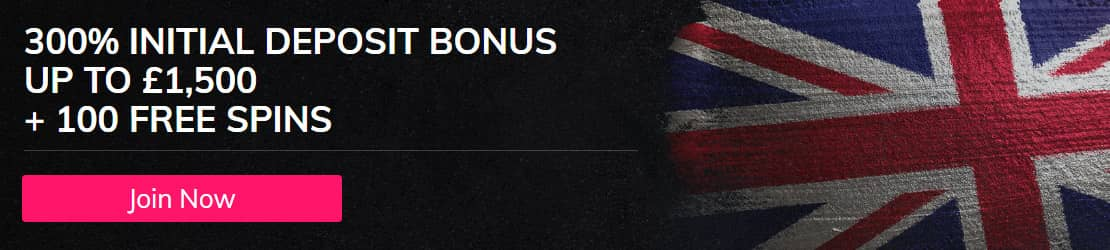 Sports and Casino Deposit Bonus - 300% up to £1,500 + 100 Free Spins